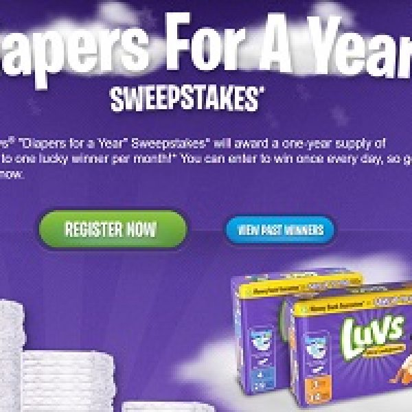 Win Luvs Diapers For a Year