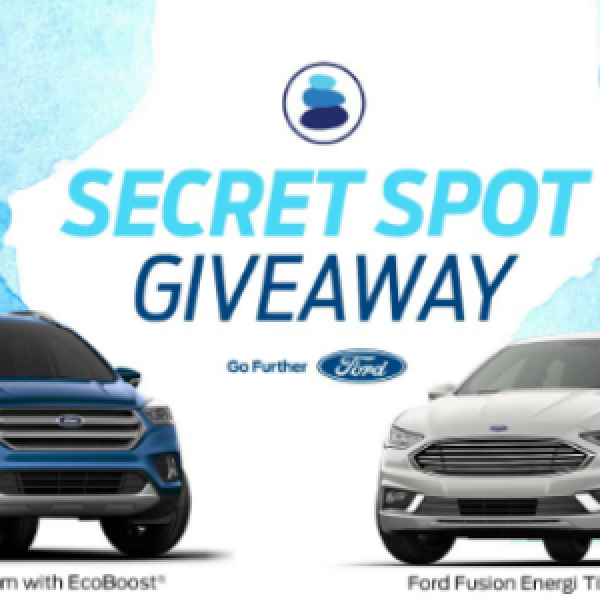 Win A Secret Escape & Your Choice of 2 Ford Vehicles