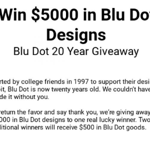 Enter To Win 1 000 Gift Card From Blu Dot: Win $5K Blu Dot Shopping Spree