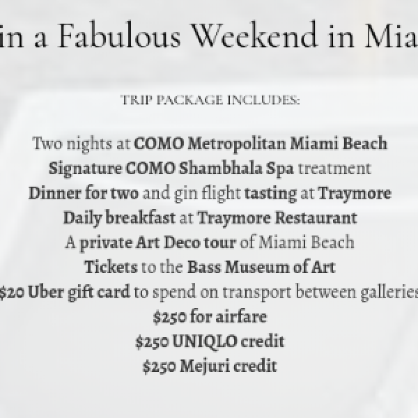 Win A Weekend in Miami - Sweeps Invasion