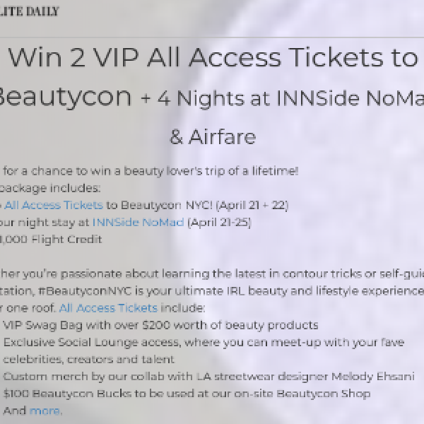 Win A Trip to Beautycon in NYC