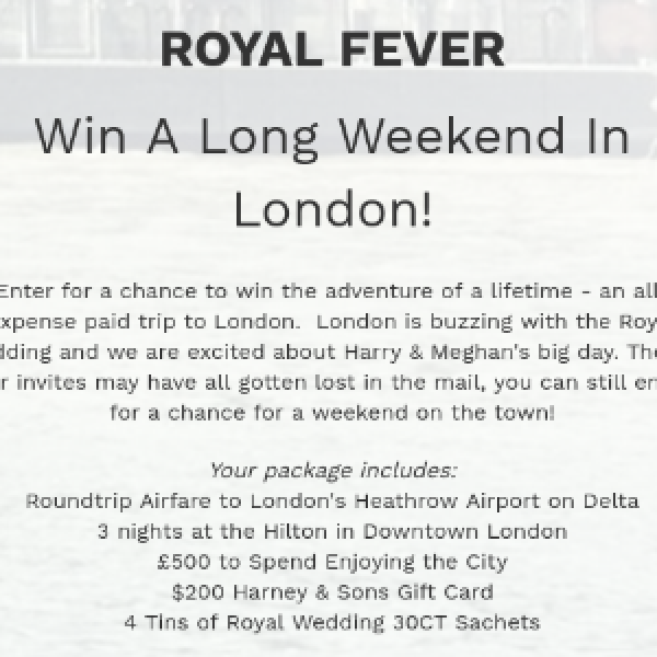 Win A Long Weekend in London