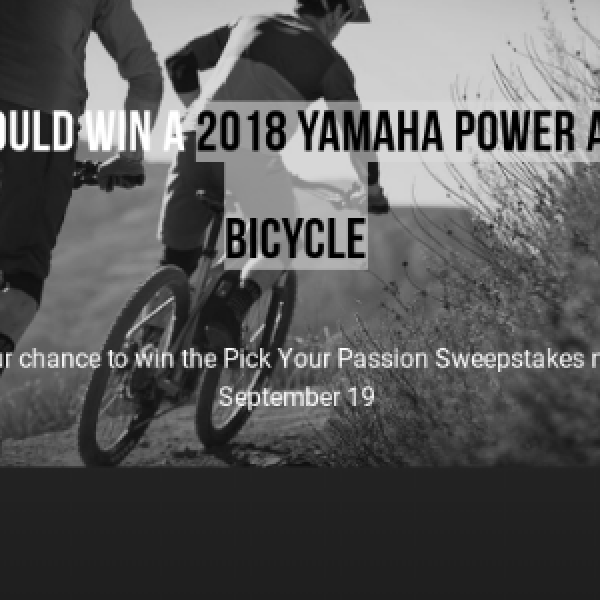 Win 2018 Yamaha Power Assist Bicycle - Sweeps Invasion