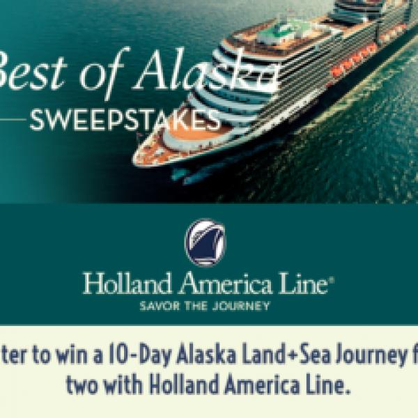 Holland: Win a 10-day Alaskan Cruise