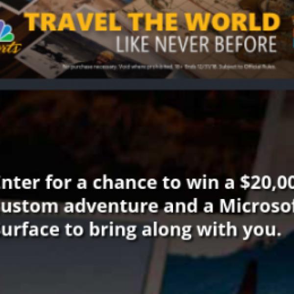 Win a $20K Custom Adventure + Microsoft Surface