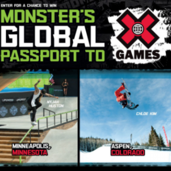 Win a Trip to X Games from Monster Energy
